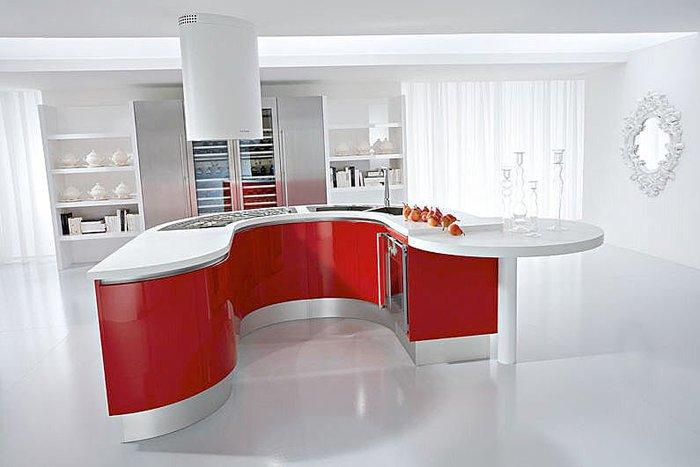 Mobila de bucatarie cu forme rotunde este luxul pe care for Cocina en forma de isla