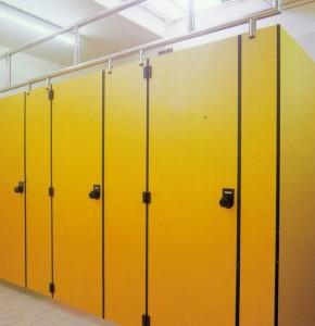 Compartimentari grupuri sanitare cu HPL compact Arpa Italia